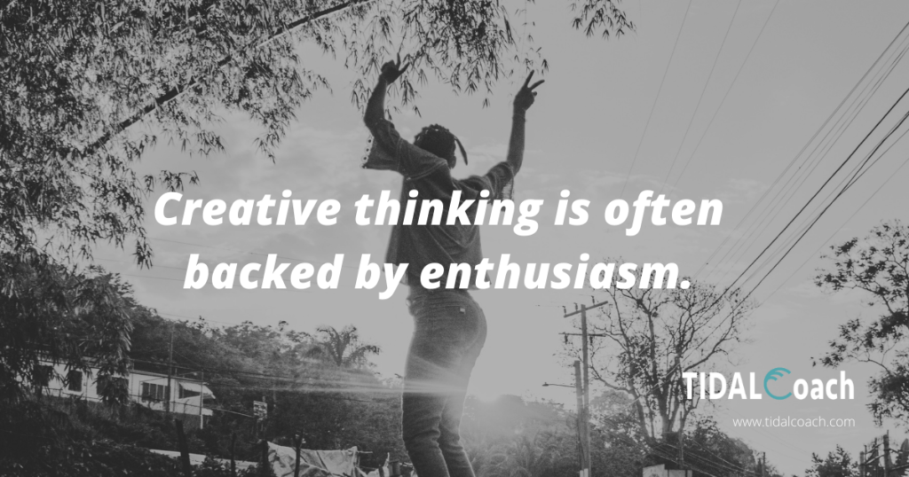 Quote about creative thinking, keep an open mind to overcome business challenges