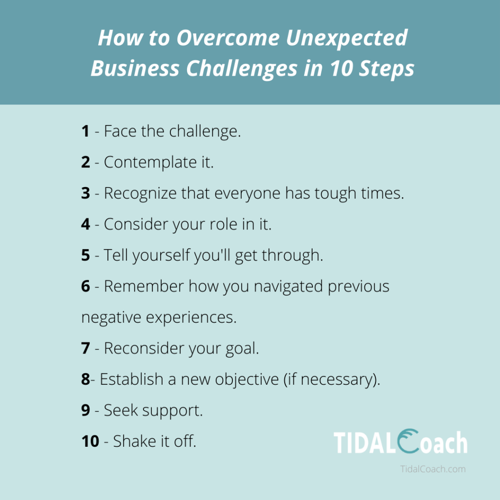 10 Steps for Overcoming an Unexpected Business Challenge, from TidalCoach
